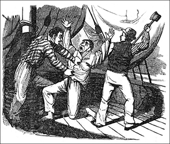 William Fly and Another Mutineer Attacking Jenkins, Public Domain