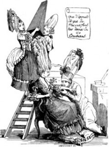 Cartoon Parodying What was Required to Dress a Woman's Hair, Courtesy of Wikipedia