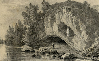 Bernadette Soubirous Praying Before the Grotto of Massabielle at Lourdes, Public Domain