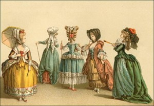Women with Canes and Fans During the Time of Louis XVI, Author's Collection