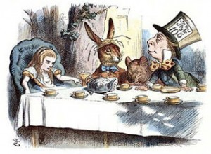 Alice's Mad Tea Party by John Tenniel, 19th Century, Courtesy of Wikipedia