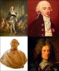 (Top to Bottom and Left to Right) Marechal de Richlieu, Marchal de Biron, Bailli de Suffern, and Duc de Chaulnes, Public Domain