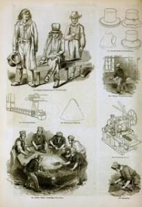 The Manufacture of Felt Hats, 1858, Public Domain