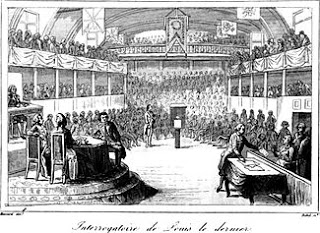 Charges read against Louis XVI - Louis Capet Being Examined by the National Convention