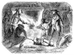 The French brigand band of Chauffers Torturing Fousset