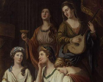 Elizabeth Montagu (seated in middle) With Other Bluestockings, Courtesy of Wikipedia
