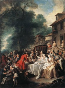 Le Repas de Chasse, (Hunting Meal) by Jean François de Troy in 1737, Courtesy of Wikipedia