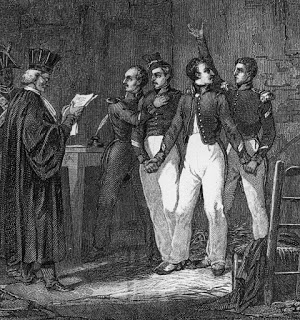 Four Soldiers in the La Rochelle Conspiracy Receiving Their Sentence of Condemnation