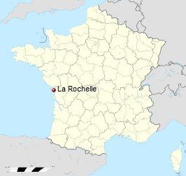 Location of La Rochelle, Courtesy of Wikipedia