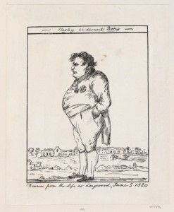 """Fleshy ci-devant Boney"" (Napoleon in Exile on St Helena) , Courtesy of Royal Collection Trust"