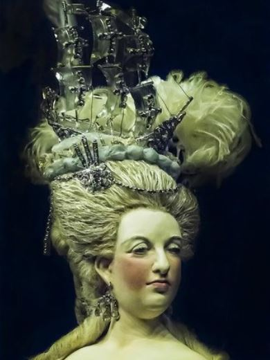 Marie Antoinette Wearing the Regent Diamond. This Photo comes from Ventura County Museum of History Art, Courtesy of TripAdvisor.