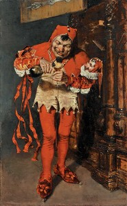 """""""Keying Up"""" - The Court Jester, by William Merritt Chase, Courtesy of Wikipedia"""
