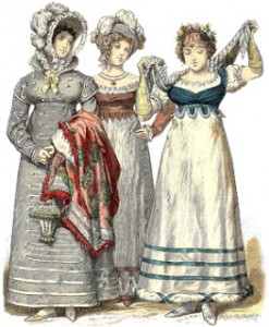 Bourbon Restoration Fashions from 1818, Author's Collection