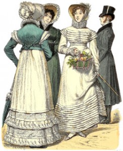 Bourbon Restoration Fashions of 1818 and 1819, Author's Collection