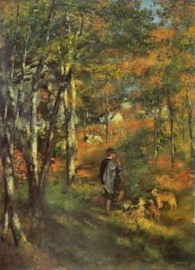 Painting by Renoir of the Fontainebleau Forest in 1886, Courtesy of Wikipedia