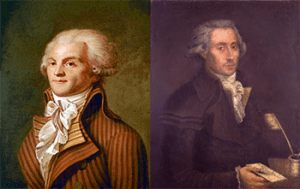 Robespierre and Couthon, Public Domain