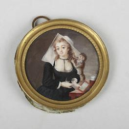 Jeanne de Valois-Saint-Rémy, Known Better as Comtesse de la Motte, with a Monkey, Courtesy of Bonhams