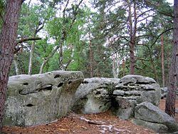 Famous Boulders of Fontainbleau Forest, Courtesy of Wikipedia