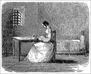 Madame Lafarge in Prison, Courtesy of Bibliothèque nationale de France