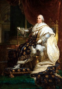 Portrait of Louis XVIII by François Gérard, Courtesy of Wikipedia