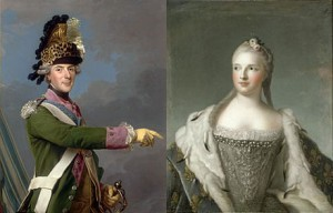 The Dauphin Louis and the Dauphine Marie Josèphe, Public Domain