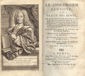 Pierre Fauchard and Title Page to His Book, Courtesy of Bibliothèque nationale de France