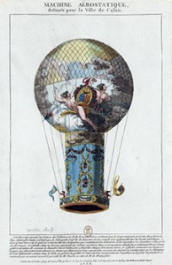 Balloon of De Rozier and Romain, Courtesy of Bibliothèque nationale de France