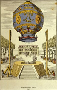 First Ascension in a Free Balloon by Pilâtre de Rozier and the Marquis d'Arlandes, Courtesy of mheu.org