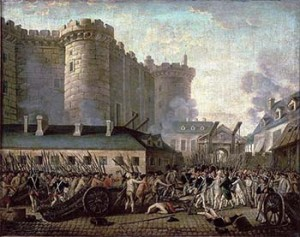 Beginning of the French Revolution: Storming of the Bastille in July 1789, Courtesy of Wikipedia