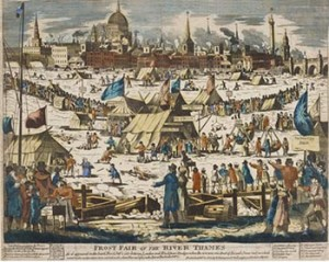 Frost Fair on the Thames, Courtesy of the British Museum