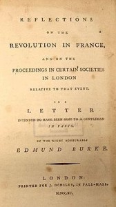 "Burke's Pamphlet, ""Reflections on the French Revolution,"" Courtesy of Wikipedia"