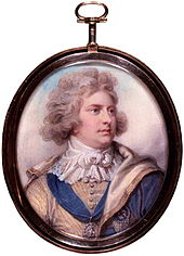 Miniature of the Prince of Wales in 1792 by Richard Cosway, Courtesy of Wikipedia