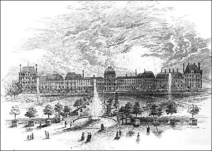 Tuileries in the 1700s, Public Domain