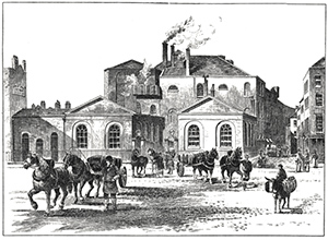 London beer flood - Meux Brewery on Tottenham Court Road