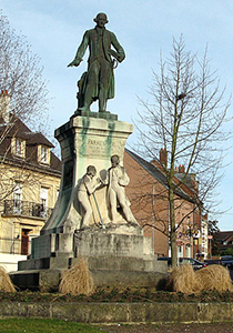 the man who made potatoes popular in France  - Montdidier Statue of Parmentier, Courtesy of Wikipedia