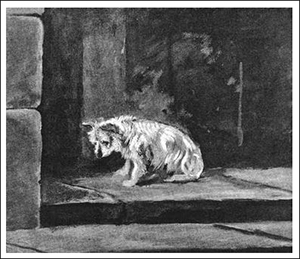 Dogs during the French Revolution - waiting at the prison door