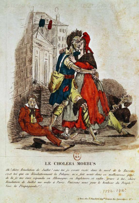 cholera in France - French caricature