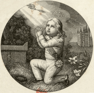 Louis-Charles in Prayer, Courtesy of Bibliothèque nationale de France