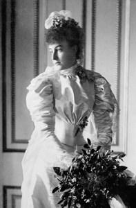 Princess Hélène of Orléans in her wedding dress