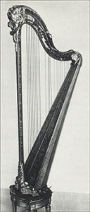 The Princesse de Lamballe's Harp, Courtesy of Bibliothèque nationale de France
