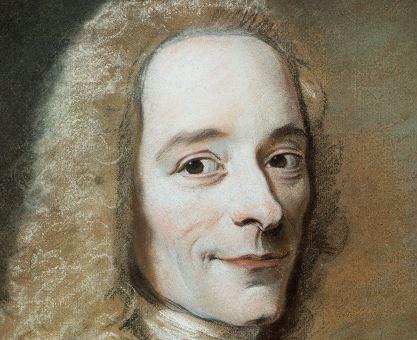 Voltaire's death - Voltaire pastel