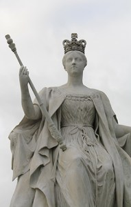 Kensington gardens statue of Queen Victoria.