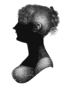 Jane Austen and Bath - Silhouette of Jane's sister Cassandra