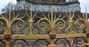 Section of the iron work on the Prince Albert memorial.
