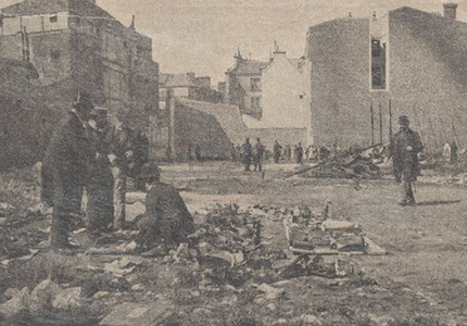 1897 charity bazaar fire - ruins of the fire