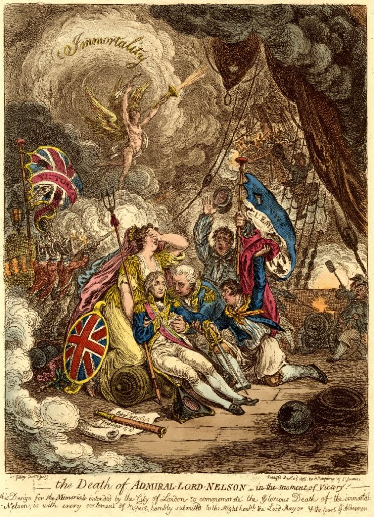 Frances Nelson - Caricature of the death of Lord Nelson.