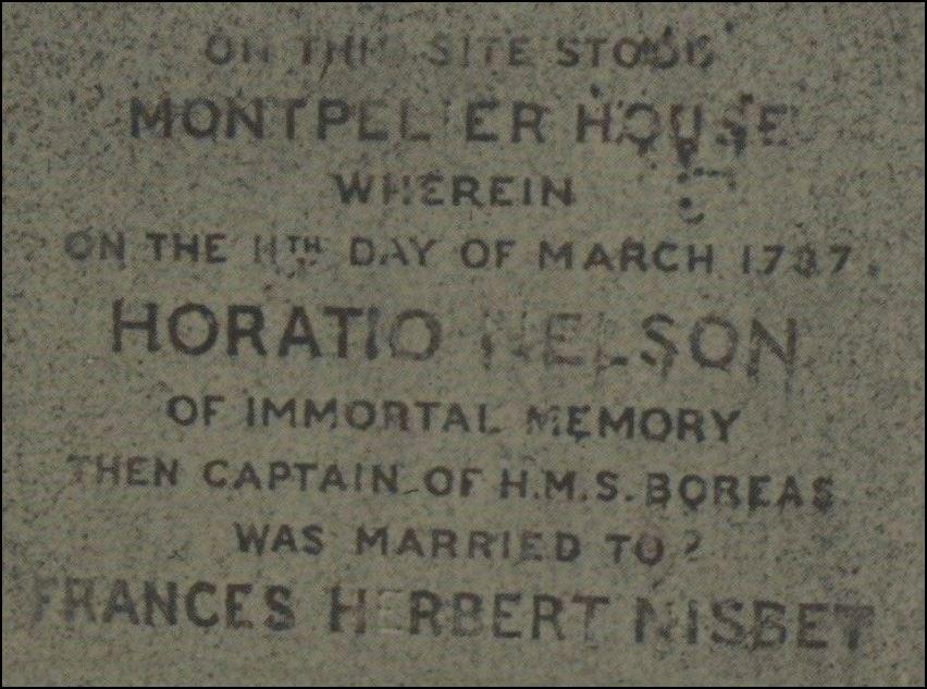 Frances Nelson and Horatio Nelson - memoriam