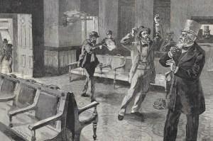 assassinate President James Garfield - Guiteau's attempt