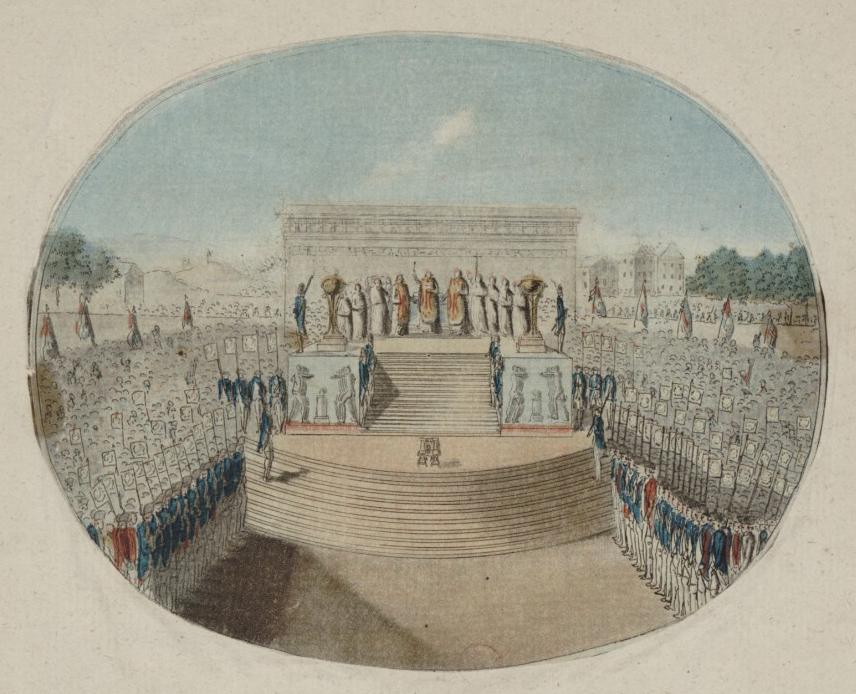 First Fete de la Federation altar.