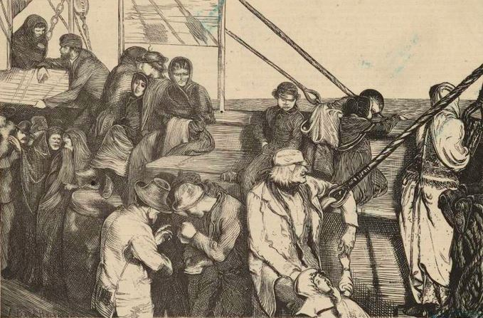cholera ship Virginia - steerage passengers